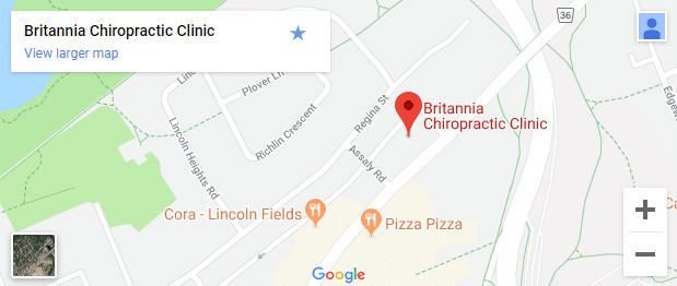 Map of Ottawa ON Chiropractors