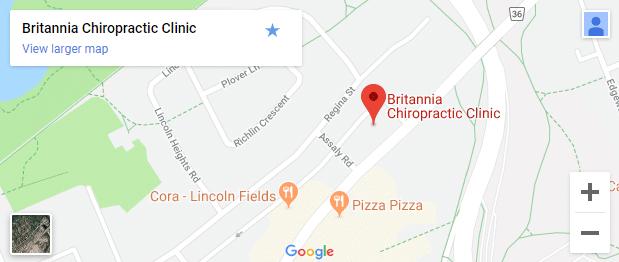 Map of Ottawa ON Chiropractors